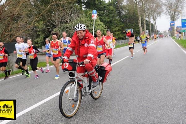Palmanova-Aquileia 28 marzo 2016. Unesco Cities Marathon 2016. Sul persorso Palmanova - Aquileia. © Petrussi Foto Press Srl Udine www.FotoPetrussi.com